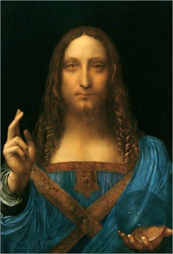 Posterlounge Alu Dibond 20 x 30 cm: Salvator Mundi di Leonardo da Vinci