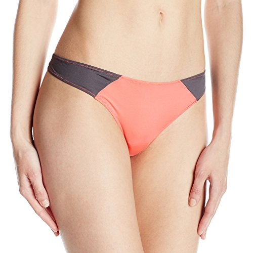 Cosabella Women's Jeanne Cblk Lr Thong, Coral/Anthracite, Small/Medium