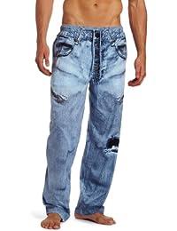 Men's Generic Faux Denim Pajama Pant