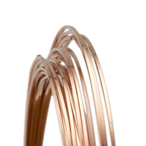 20 Gauge Square Dead Soft 14/20 Rose Gold Filled Wire - 5FT 20 Rose Gold Filled Wire