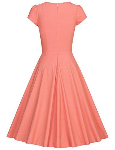 Eleganti Vestiti Cerimonia MUXXN Da Donna Pink Donna 50 Vestiti Anni Vintage wScqTX04