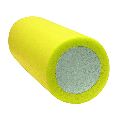 CanDo Premium 2-Layer Foam Roller, Round, 6' X 30', Yellow: X-Soft
