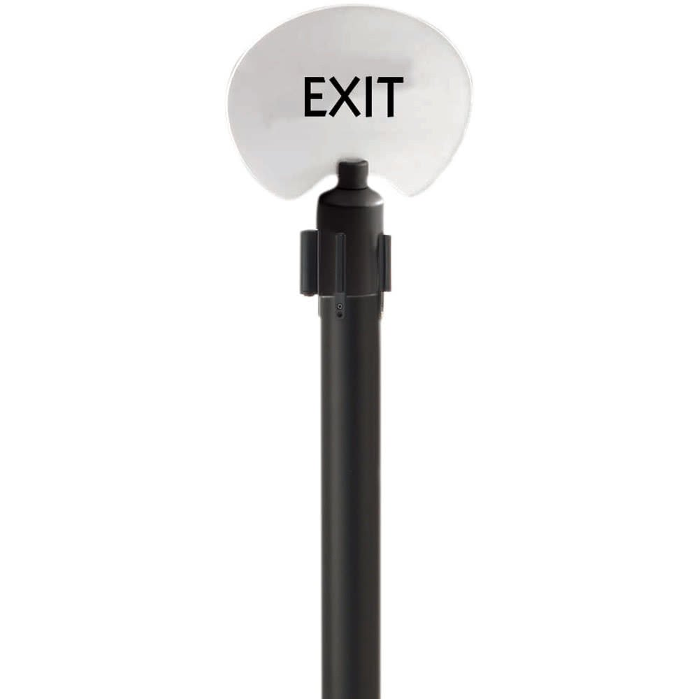 Oval ''Exit'' Stanchion Sign By TableTop King by TableTop King (Image #1)