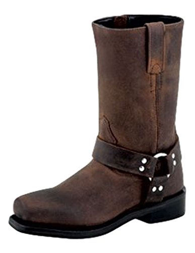(Old West Kids Boots Unisex Square Toe Harness (Toddler/Little Kid) Brown 1 M US Little)