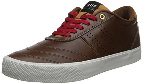 HUF Men's Galaxy Skate,Dark Brown/Leather Brown,12 M US