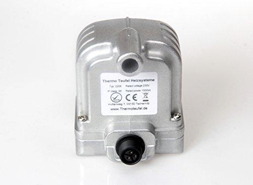 Calefactor eléctrico Motor pre-warmer ATO verde, 230 V, 1500 W, 2208, 75 grados: Amazon.es: Coche y moto