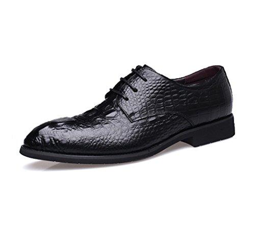 HYLM Zapatos de los hombres de Nueva Inglaterra de los zapatos ocasionales del negocio de los hombres de / zapatos de la manera / del cuero / del cordón Black