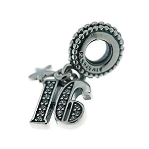 PANDORA 16 Years Love Dangle Charm, 797261CZ