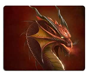 Dragon Head Artwork Myth Abstract Mouse Pads Customized Made to Order Support Ready 9 7/8 Inch (250mm) X 7 7/8 Inch (200mm) X 1/16 Inch (2mm) High Quality Eco Friendly Cloth with Neoprene Rubber Lux Mouse Pad Desktop Mousepad Laptop Mousepads Comfortable Computer Mouse Mat Cute Gaming Mouse_pad