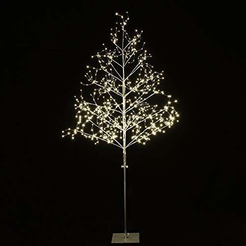 Lightshare 5 ft. LED Tree - Starlit Tree Collection with Warm White LED Angel Lights, 5 Feet, Silver, Perfect For Home Décor Holiday Party Wedding by Lightshare