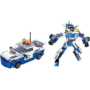 Furkan Lego 180 Parça Robot ve Polis Arabası Oyun Seti