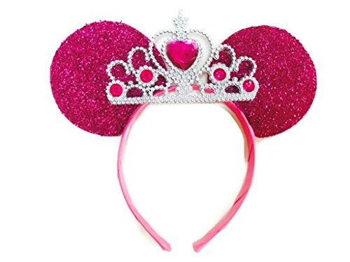 Mickey And Minnie Costumes Tumblr (MeeTHan Mickey Mouse Ears Headband Minnie Mouse ears Tiara headbands : M6 (Pink2-L))