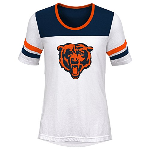 - Outerstuff NFL NFL Chicago Bears Youth Girls Tail Back Short Sleeve Tee White, Youth Large(14)