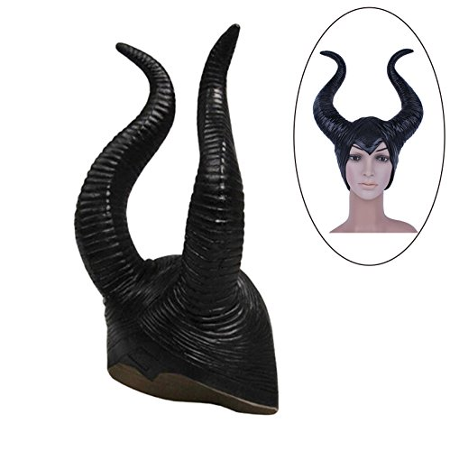 GZQ Genuine latex maleficent horns adult women halloween party costume cosplay headpiece (Zumba Costumes Halloween)