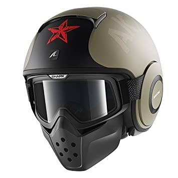 Shark casco de moto Drak Soyouz, Negro/Oro, Talla L