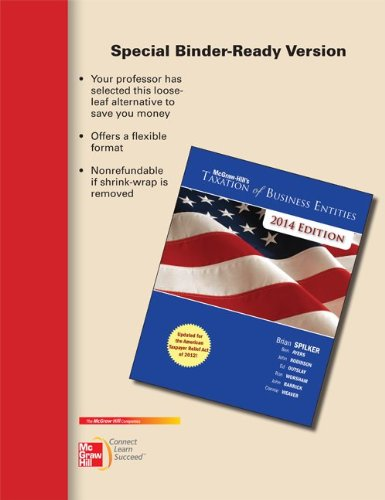 Loose-leaf for McGraw-Hill's Taxation of Business Entities, 2014 Edition