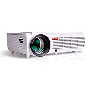 Gzunelic 3800 lumens 1080p LED Video Projector Full HD homeTheater Proyector Native 1280x800 with 2 HDMI 2 USB VGA AV multiple interfaces support ceiling mount projection Ideal for Home Entertainment