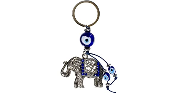 Amazon.com: Mal de ojo talismán Llavero elefante: Home & Kitchen
