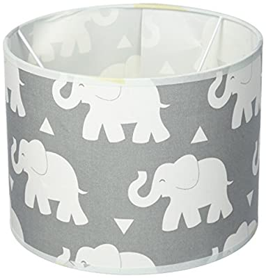 Pam Grace Creations LS-Elephant Indie Elephant Lamp Shade Lampshade, Gray