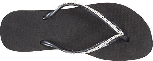 - Havaianas Women's Slim Crystal Mesh II Flip Flops Black 35-36 M Bra