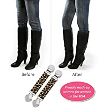 """Best Pant Clip on Amazon: Boot Snugs Boot Clips, Boot Straps Stirrups -- Boot Snugs Boot Straps Pant Clips for Smooth Jeans in Boots (3"""" Cheetah (Short))"""