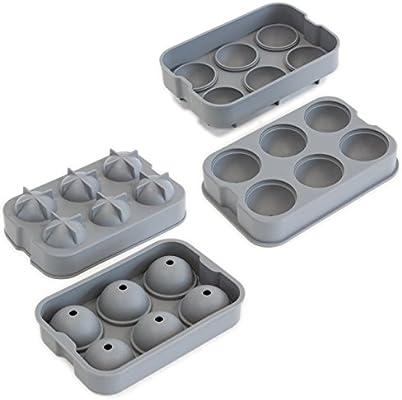 Compra Oxid7 ® | XXL cubitos de hielo de forma de silicona para 6 ...