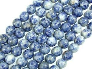 (Blue Spot Jasper Beads, Round, 10 mm (10.5 mm), 15.5 Inch (153054004) Crafting Key Chain Bracelet Necklace Jewelry Accessories Pendants)