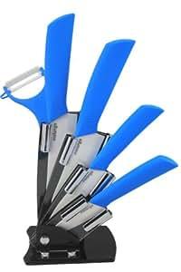 Compra melange w5pc6543pbu 6 piezas de cuchillos de for Cuchillos de ceramica amazon