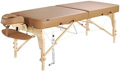 Master Massage 30 Phoenix Therma Top Portable Massage Table Bed Couch in Otter Mushroom with Built in Warming Pads