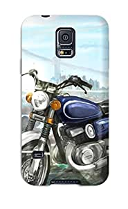 GSEInBz9728CuNhT DanRobertse Awesome Case Cover Compatible With Galaxy S5 - Original Fantastic World Anime Girls Motorcycle