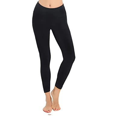 6819edd69e Amazon.com: Women's Brushed Buttery Soft High Waisted Leggings Full ...