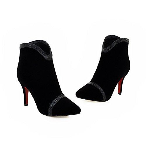 1to9 - Sandales Compensées Pour Femmes, Noir (noir), 35 Eu