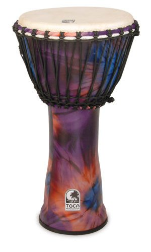Toca SFDJ-12WP Freestyle Rope Tuned 12-Inch Djembe - Woodstock Purple Finish