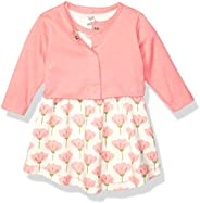 Touched by Nature Baby-Girls Organic Dress and Cardigan Set