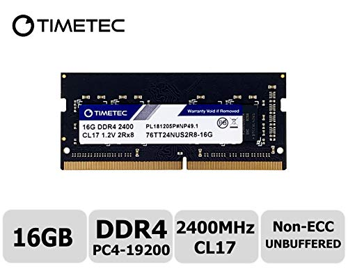 Timetec Hynix IC 16GB DDR4 2400MHz PC4-19200 Non ECC Unbuffered 1.2V CL17 2Rx8 Dual Rank 260 Pin SODIMM Laptop Notebook Computer Memory Ram Module Upgrade S Series (16GB)