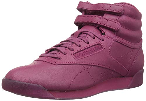 Reebok Women's Freestyle Hi Walking Shoe, FACE-Twisted Berry/White, 8 M US - Hi Kids Casual Shoes