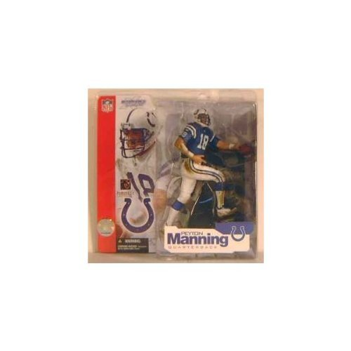 Peyton Manning #18 Indianapolis Colts Blue Jersey Uniform Chase Alternate Variant Action Figure McFarlane NFL Series 4 by Unknown