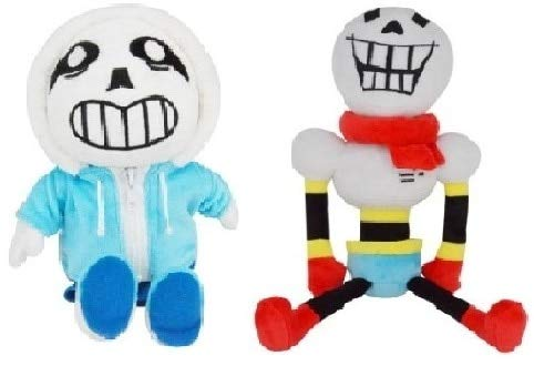 YOYOTOY Undertale Set of 2 Cute Undertale & Papyrus Plush Toys Doll Soft Stuffed Cartoon Anime Toys for Kids Children Christmas Must-Have Friendship Gifts The Favourite Anime Superhero Birthday by YOYOTOY