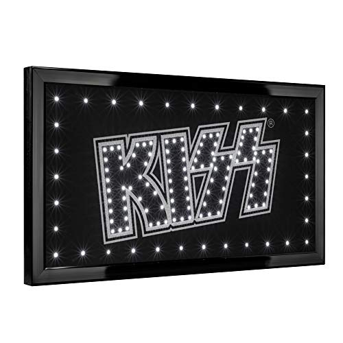 "American Art Decor Officially Licensed KISS LED Light Up Sign Wall Decor for Man Cave Bar Garage Game Room (10"" X 19"")"