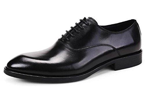Happyshop (tm) Scarpe Derby In Pelle Da Uomo Scarpe Stringate Da Intaglio Oxford Boss Black (25868)