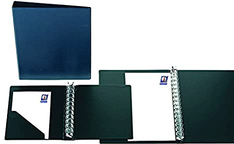 Carpeta de anillas multiple Iberplas PVC escolar Fº 16 anillas 25mm color negro: Amazon.es: Oficina y papelería