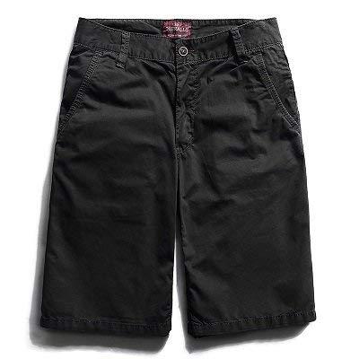 Marca Verano Ocasionales Cómodos Cortos Colores Hombres Playa Sólidos Puro Para De Los Fit Negro 9 Slim Algodón Pantalones Mode YwqzTZw