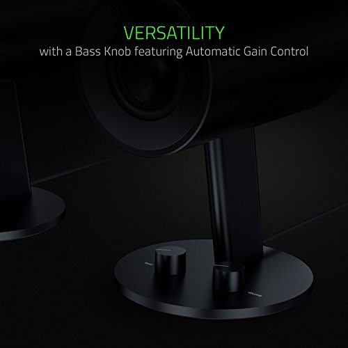 Razer Nommo - Computer Speakers, Rear Bass Ports for Full Range Gaming & Sound Immersion - Custom Woven Glass Fiber 3'' Drivers by Razer (Image #4)