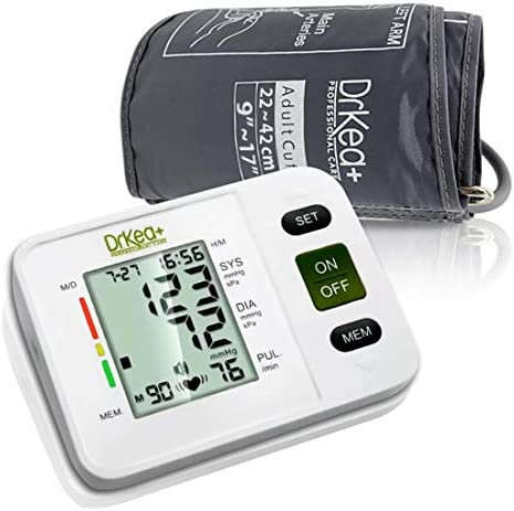Blood Pressure Monitor Upper Arm – Fully Automatic Blood Pressure Machine Large Cuff Kit – Digital BP Monitor for Adult, Pregnancy – Blood Pressure Kit for Home Use – Batteries, Storage Bag Included