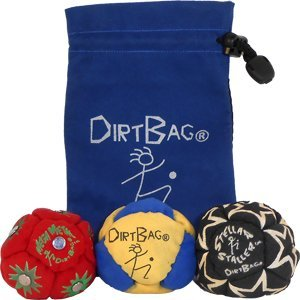 Dirtbag All Star 3 Pack With Pouch - blue yellow w/ blue pouch
