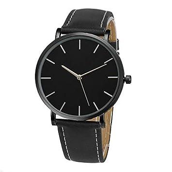 HTRHHG Business Quartz Relojes de Pulsera Mujer Reloj Fashion Gold Faux Leather Band Reloj Femenino, 1: Amazon.es: Deportes y aire libre