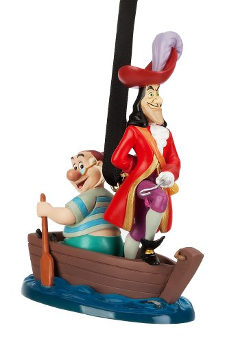 Disney Store Captain Hook and Mr. Smee Sketchbook Ornament Figurine from Peter Pan -