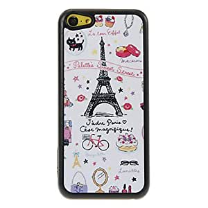 Colorful Life in Paris Pattern Shimmering PC Hard Case for iPhone 5C