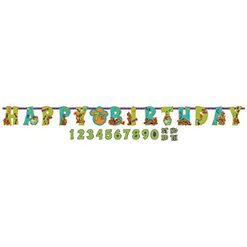 Awesome Scooby-Doo Birthday Party Jumbo Add-An-Age Letter Banner Decoration, Paper , 10' X 10