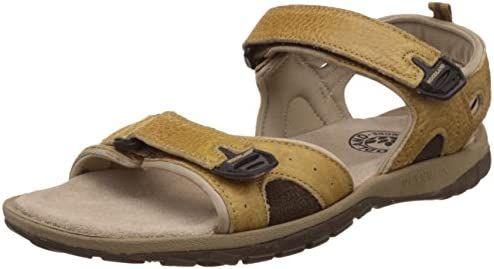 9bb5a078b3717 Woodland Men's Camel Leather Sandals and Floaters - 6 UK/India (40 ...